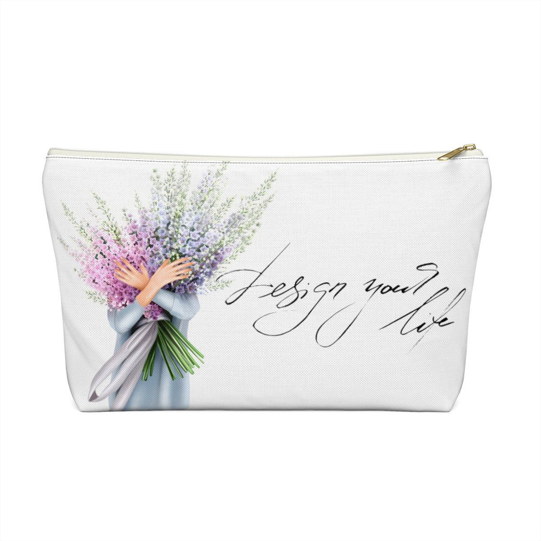 Design Your Life Light Skin Accessory Pouch with T-bottom - Pencil Case - Planner Press Designs