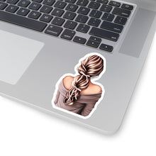 Load image into Gallery viewer, Bows In Her Hair Light Skin Brown Hair Vinyl Sticker Decal - Planner Press Designs