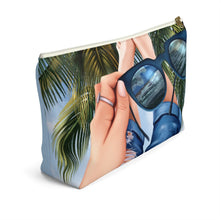 Load image into Gallery viewer, Beach Vibes Light Skin Accessory Pouch with T-bottom - Pencil Case - Planner Press Designs