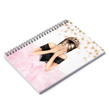 Load image into Gallery viewer, Birthday Girl Light Skin Brown Hair Spiral Notebook - Ruled Line