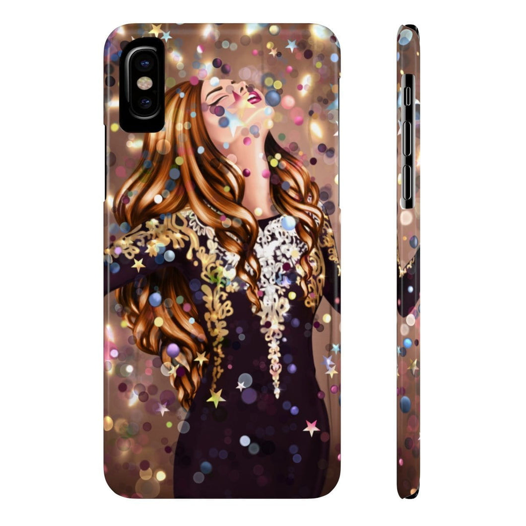 iPhone X Dancing In The Moment Light Skin Red Hair Case Mate Slim Phone Cases