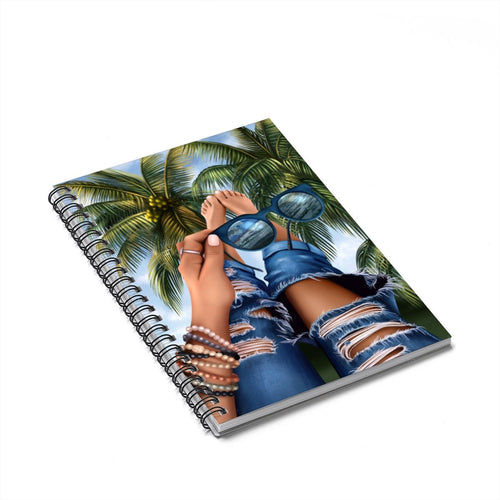 Tropical Day Dreams Medium Skin Spiral Notebook - Ruled Line