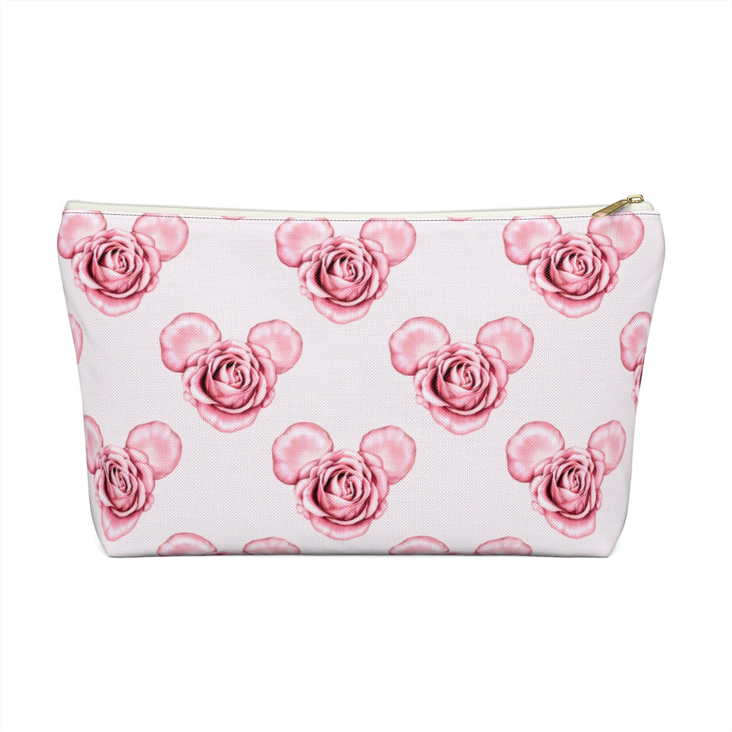 Mickey Roses Accessory Pouch with T-bottom - Pencil Case