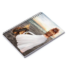 Load image into Gallery viewer, Bonfire Light  Skin Red Hair Spiral Notebook - Ruled Line - Planner Press Designs