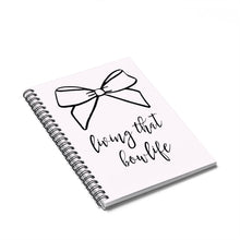 Load image into Gallery viewer, That Bow Life Spiral Notebook - Ruled Line