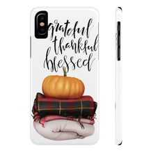Load image into Gallery viewer, iPhone X Pumpkin Greatful Case Mate Slim Phone Cases