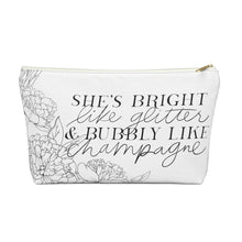 Load image into Gallery viewer, Bright Like Glitter Accessory Pouch with T-bottom - Pencil Case - Planner Press Designs