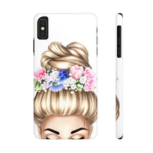 Load image into Gallery viewer, iPhone X Flowers in Her Hair Light Skin Blonde Hair Case Mate Slim Phone Cases