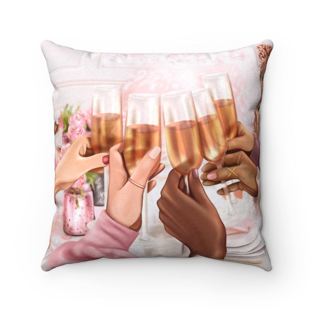 Pillow - Cheers Faux Suede Square Pillow