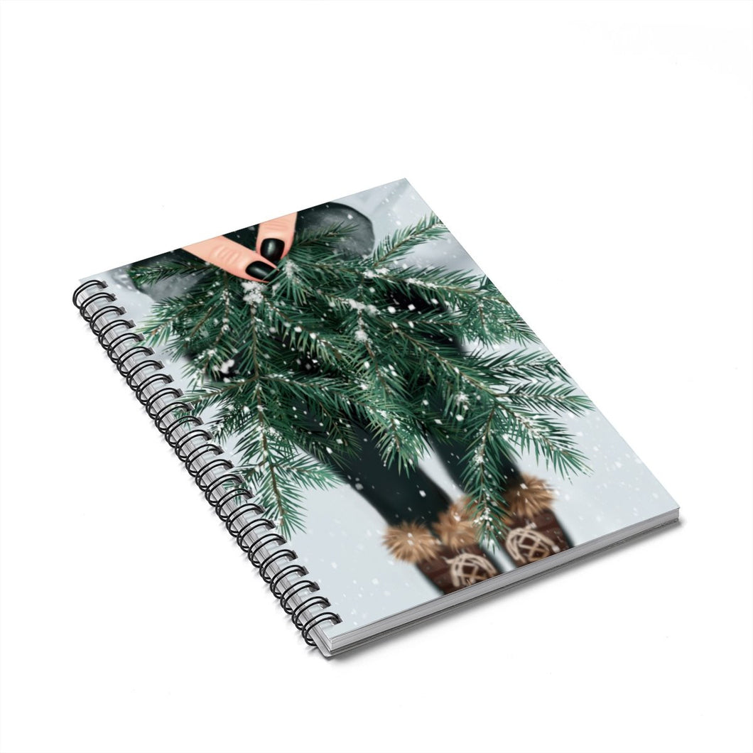The Beauty Of Winter Light Skin Spiral Notebook - Ruled Line