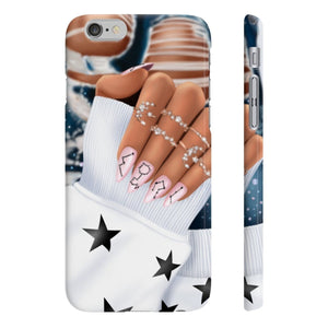 Galaxy Nails Medium Skin iPhone Case - Protective Phone Cover - Planner Press Designs