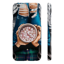 Load image into Gallery viewer, Peppermint Hot Chocolate Black Hair Light Skin iPhone Case - Protective Phone Cover