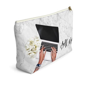 Self Made Girl Boss Medium Skin Accessory Pouch with T-bottom - Pencil Case