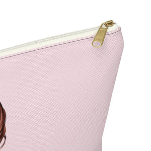 Bows In Her Hair Light Skin Red Hair Accessory Pouch with T-bottom - Pencil Case - Planner Press Designs