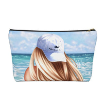 Load image into Gallery viewer, Beach Girl Light Skin Blonde Hair Accessory Pouch with T-bottom - Pencil Case - Planner Press Designs