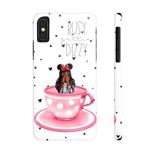 iPhone X Busy Gettin Dizzy Dark Skin Black Hair Case Mate Slim Phone Cases