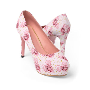 Mickey and Roses Women's Platform Heels