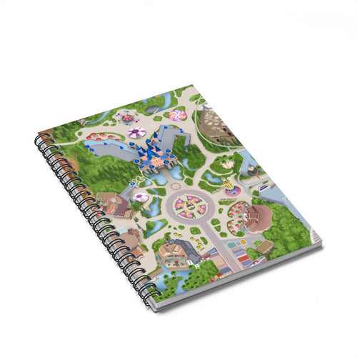Disney Park Map Spiral Notebook - Ruled Line - Planner Press Designs