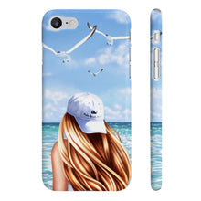 Load image into Gallery viewer, Beach Days Light Skin Red Hair iPhone Case - Protective Phone Cover - Planner Press Designs