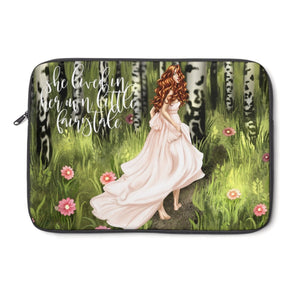 FairyTale Laptop Sleeve - Light Skin - Red Hair - Planner Press Designs