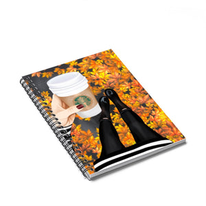 Time For Coffee Light Skin Spiral Notebook - Ruled Line