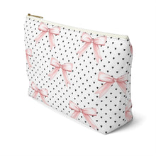 Load image into Gallery viewer, Bows and Hearts Accessory Pouch with T-bottom - Pencil Case - Planner Press Designs