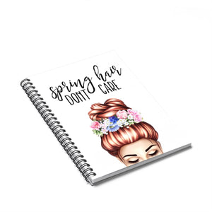 Spring Hair Light Skin Red Hair Spiral Notebook - Ruled Line