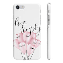Load image into Gallery viewer, Live Simply iPhone Case - Protective Phone Cover - Planner Press Designs