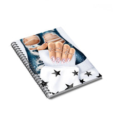 Load image into Gallery viewer, Galaxy Nails Light Skin  Spiral Notebook - Ruled Line