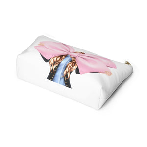 I Like Big Bows Light Skin Red Hair Accessory Pouch with T-bottom - Pencil Case