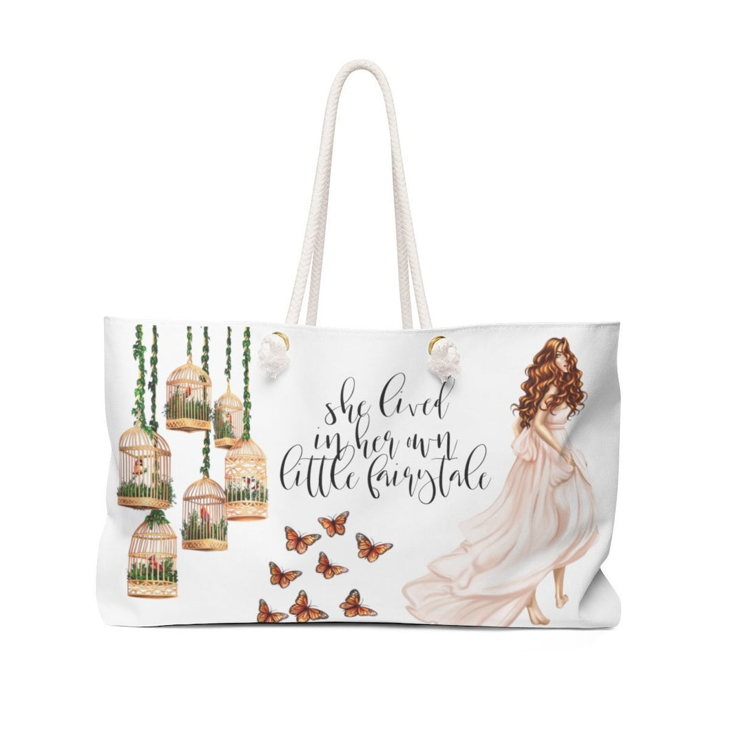Fairytale Weekender Tote Bag-Light Skin Red Hair - Weekend Tote Bag - Planner Press Designs