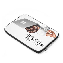 Load image into Gallery viewer, Tired AF Laptop Sleeve - Medium Skin - Brown Hair - Planner Press Designs