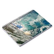 Load image into Gallery viewer, Waves Spiral Notebook - Ruled Line