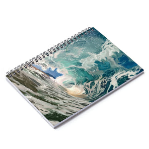 Waves Spiral Notebook - Ruled Line