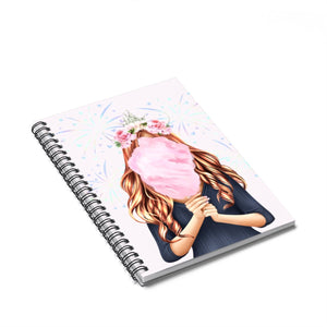 Cotton Candy Dreams Light Skin Red Hair Spiral Notebook - Ruled Line