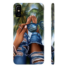Load image into Gallery viewer, iPhone X Summer Beach Vibes Dark Skin Case Mate Slim Phone Cases