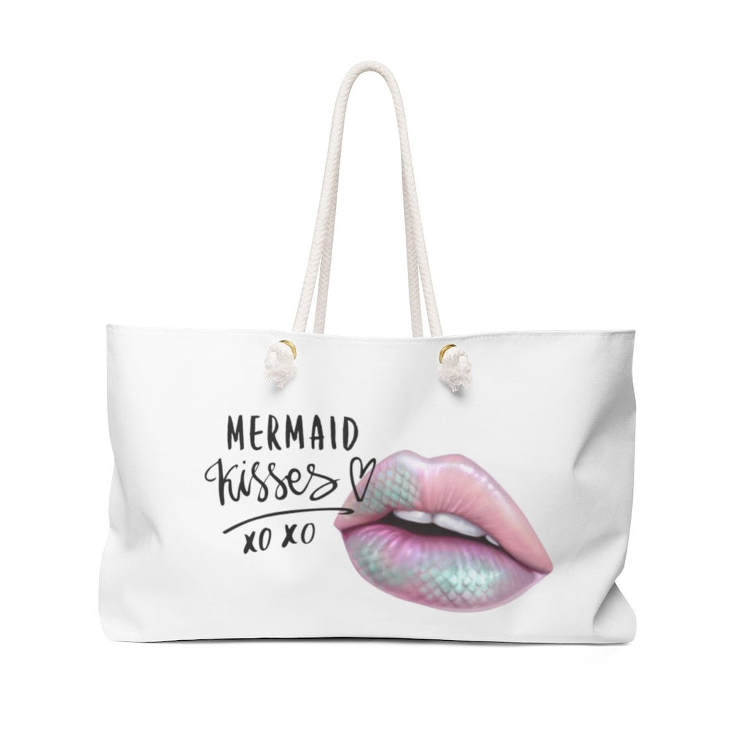 Mermaid Kisses Weekender Bag Tote - Weekend Tote Bag