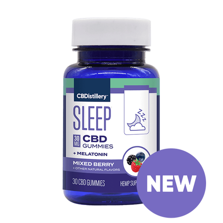 30mg Broad Spectrum CBD Nighttime Gummies + Melatonin - 0% THC - 30 Count