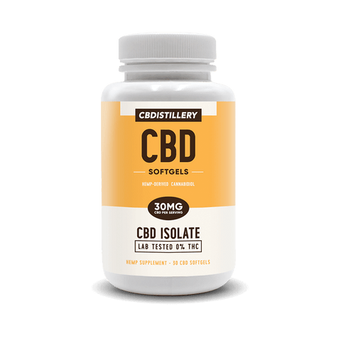 30mg - THC Free  CBD Isolate Softgels - 30 Count
