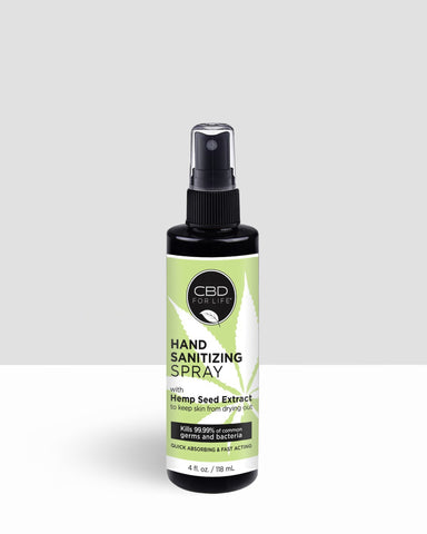 Hand Sanitizing Spray With Hemp Seed Extract - 4 FL. OZ/ 118 ML