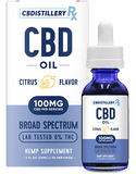 Broad Spectrum Citrus CBD Oil Tincture - 3000mg (100mg/serving)