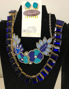 Feeling Blue Necklace and Earrings Set