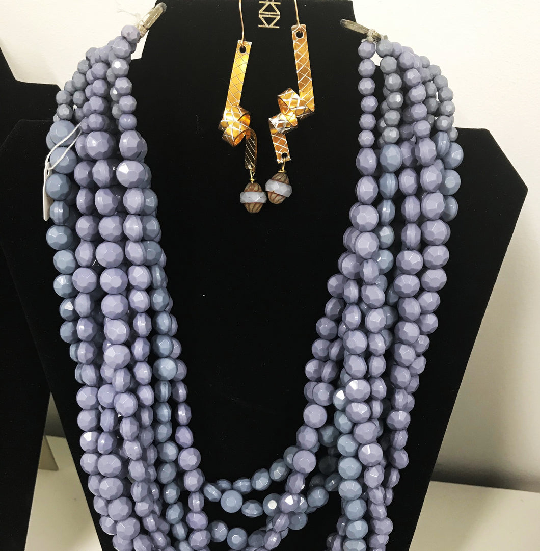 Purple Haze Necklace and Earrings