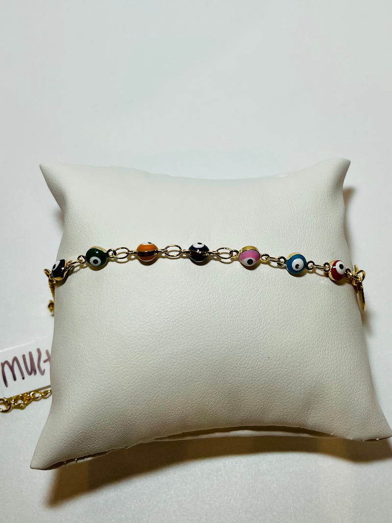 Multi Evil Eye Anklet