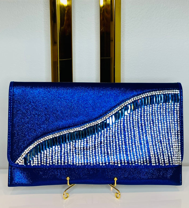 Luxe Blue Ivy Clutch