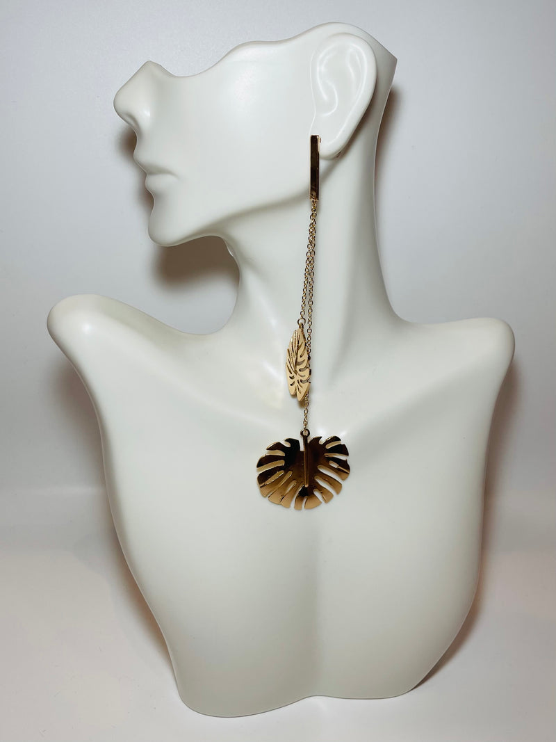 Tropicana Leaf Drop Earrings