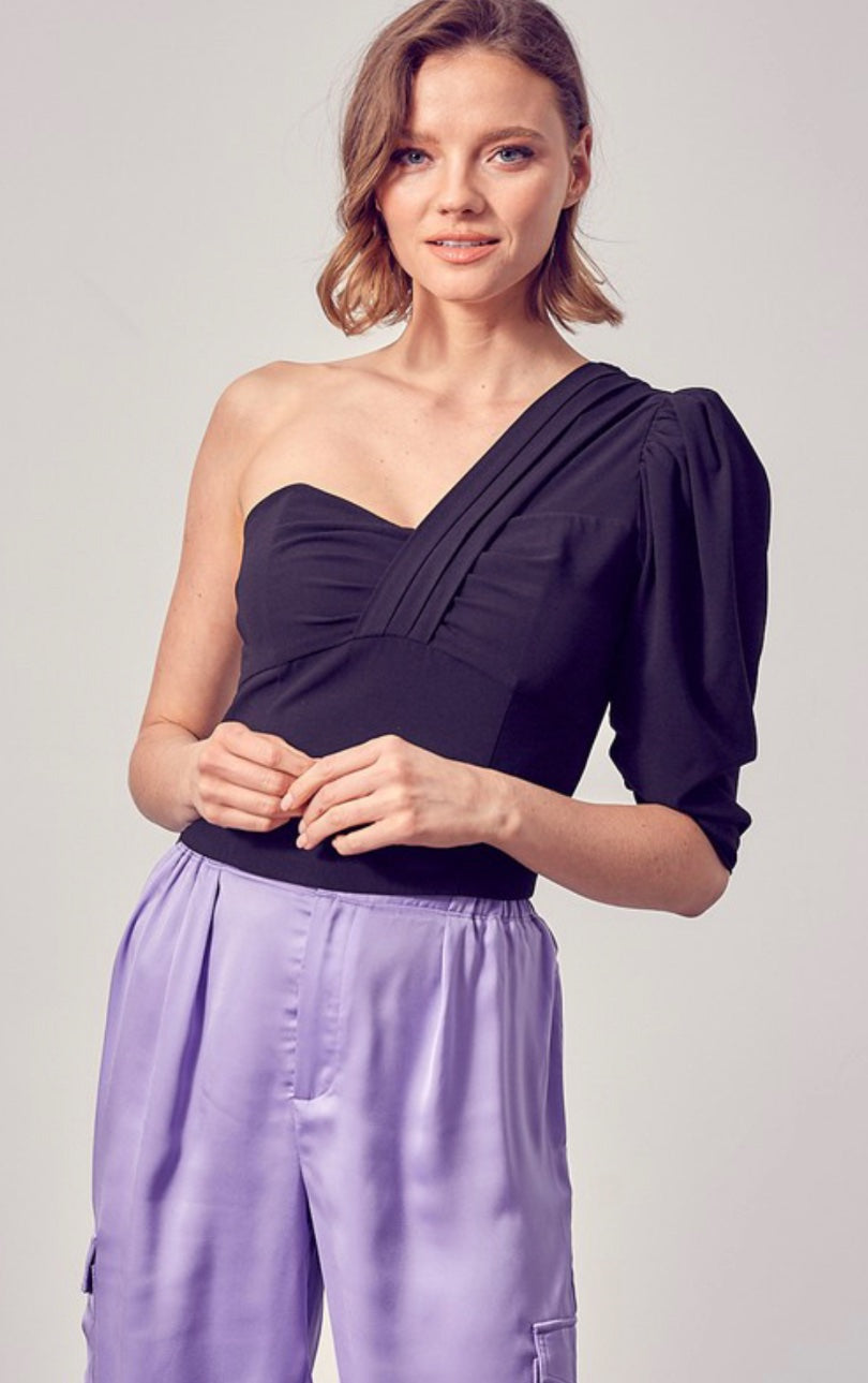 Anneline One Shoulder Cropped Top