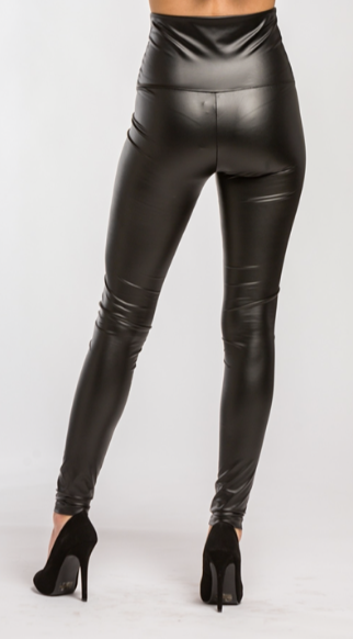 High Waisted Leather Leggings