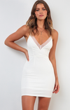 Angel V-Neck White Dress