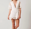 Peggy V-Neck Lace Romper